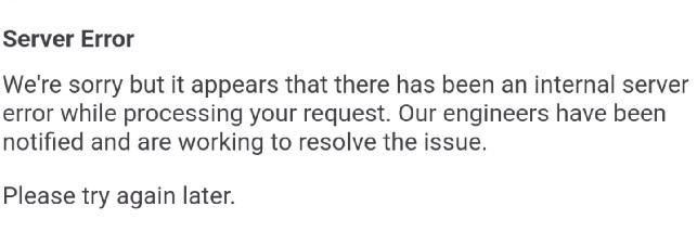 server error google